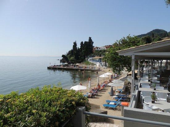 Aeolos Beach Resort : Vue sur la Mer et Restaurant du Soir (sous réservation)