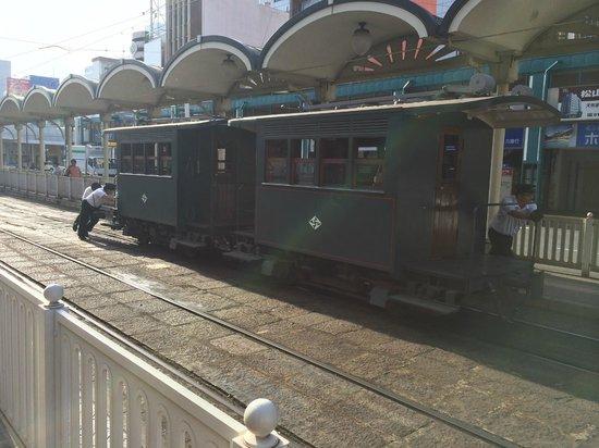 Bocchan Train: 折り返し作業