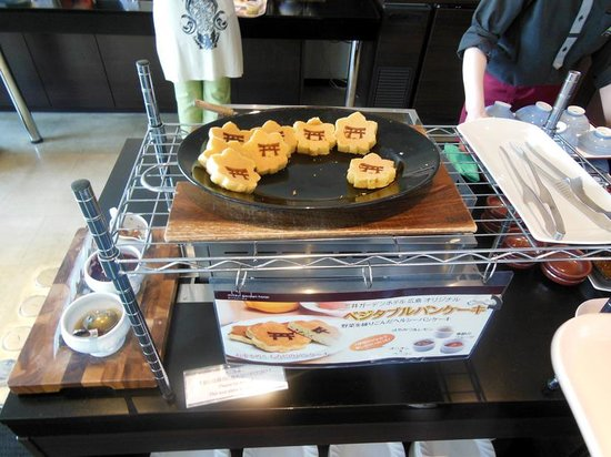 Mitsui Garden Hotel Hiroshima: 焼き立てのベジタリアンパンケーキに感激