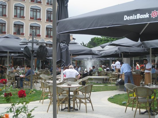 And Hotel : the hotel located on a big square with cafes and resturant