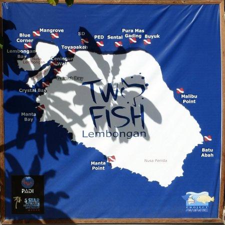 Two Fish Divers Lembongan: Dive Sites