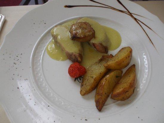 Ristorante Maffei : Filetto di norcino con crema di porri e foie gras