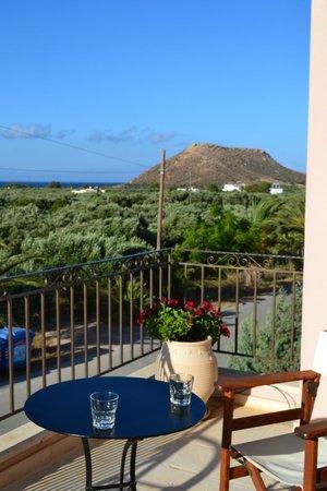 Olive Coast Suites: Uitzicht vanop terras