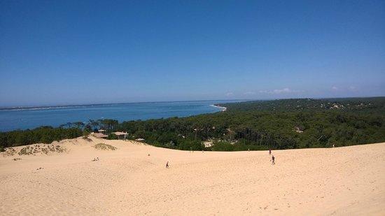 Dune du Pilat : vue d'en haut de la dune