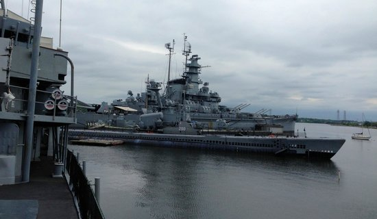 Battleship Cove: View from harbor