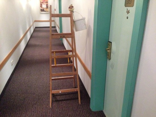 Hotel Nestroy : Paint and ladder by our door