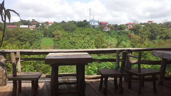 Tree Top Eco-Lodge: View from the restaurant.