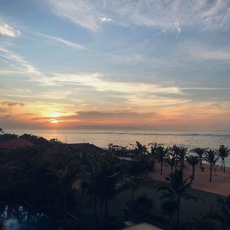 The Mulia: View from room at sunrise