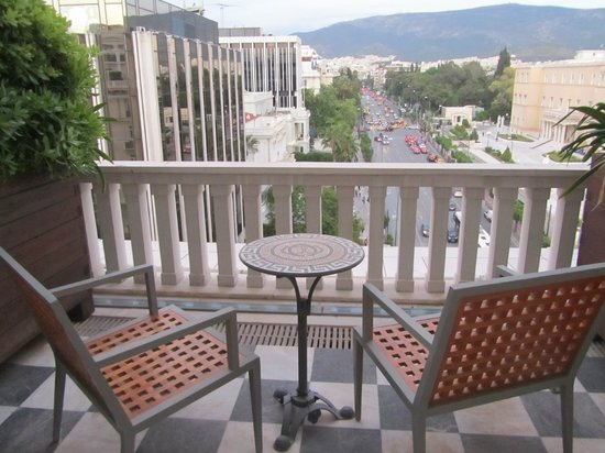 Hotel Grande Bretagne, A Luxury Collection Hotel: Our Balcony