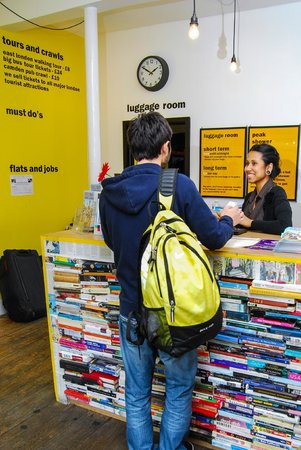 Reception - The Dictionary Hostel, Shoreditch, East London