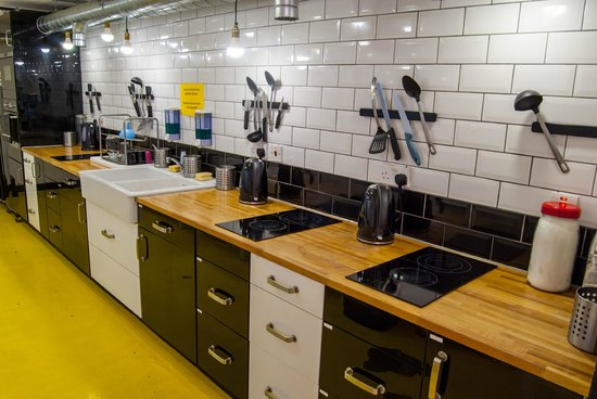 Fully equipped Kitchen  -The Dictionary Hostel, Shoreditch, East London