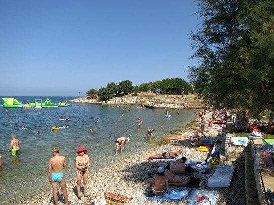 Hotel Plavi : Пляж и лагуна