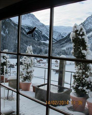 Der Kleinwalsertaler Rosenhof: Blick aus Hotelfenster