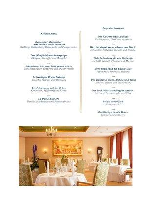 Restaurant Caroussel im Buelow Palais: Abendmenue 7.6.2014