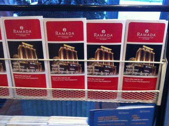 Ramada Ulaanbaatar Citycenter: рекламные буклеты