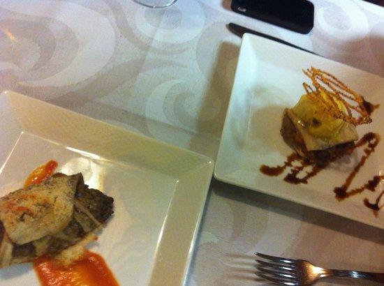 Restaurante Las Tinajas: Berenjena y pastela