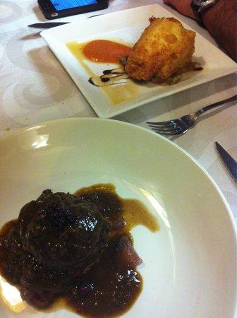 Restaurante Las Tinajas: Carrillada y bacalao