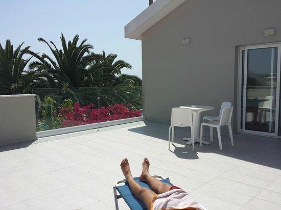 Mon Repos Design Hotel : terrass