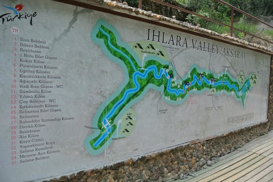 Ihlara Valley : the map
