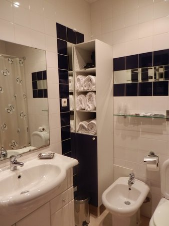Hotel Lisboa Tejo: baño apartamento