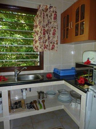 Cocotier du Rocher: Küche
