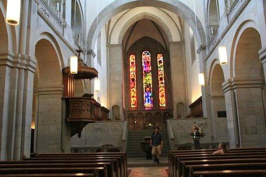 Grossmunster: The Church inside.