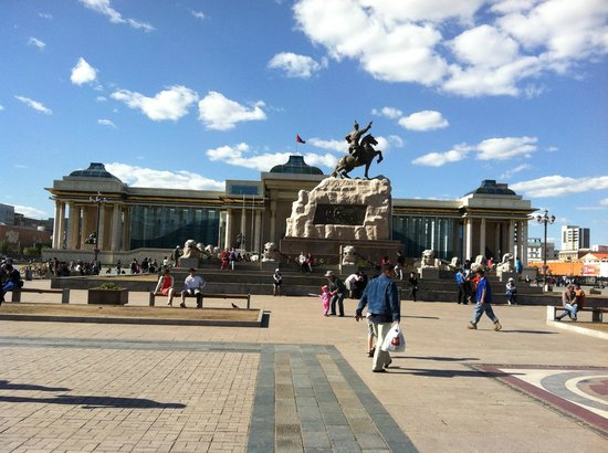 Genghis Khan Square: Площадь во всей красе!