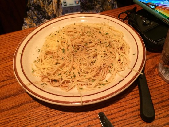 Demos' Steak And Spaghetti House: Spaghetti with brown butter sauce
