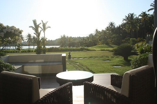 The Lalit Resort & Spa Bekal : View from balcony of river facing room.