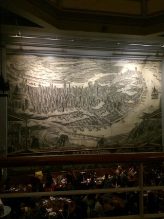 John's of Times Square : John's Pizzeria mural