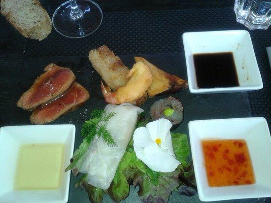 Chez Ma Cousine: assiette asiatique