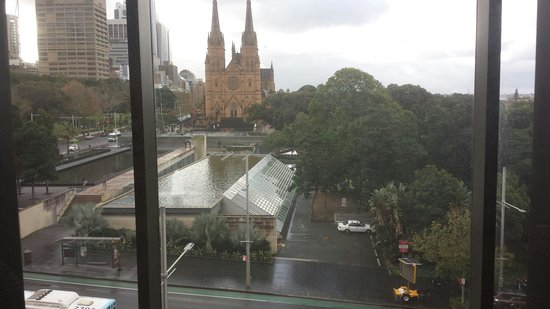 Australian Museum: View from inside. Facing st Mary's cathedral.  Photos dont do it justice.