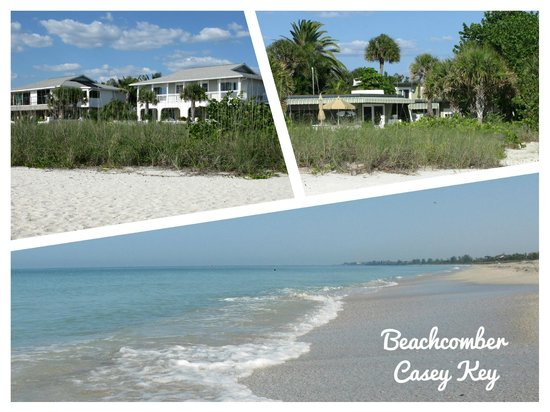 "The Beachcomber : links: ""New Section"" / rechts:"" Old Section"" / unten: Strand davor