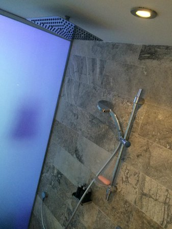 Hard Rock Hotel Ibiza: Two showers: vertical and cord