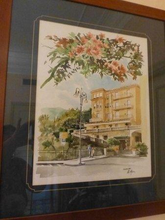 Antiche Mura Hotel: Watercolour of the Hotel