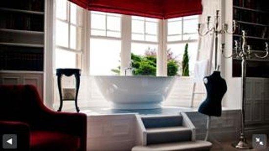 Château Rhianfa : Bay window with bath
