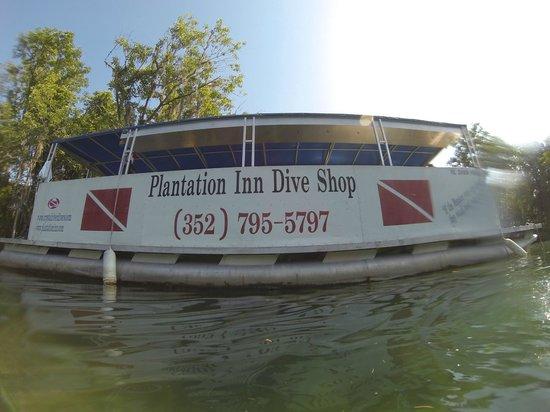 Plantation on Crystal River: Boot für die Tauchfahrt