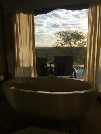 The Elephant Camp: This is the bathroom from our suite