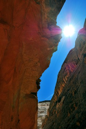 Grand Wash Trail: A narrower section