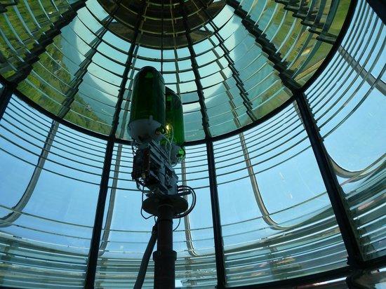 Southeast Lighthouse: Inside the lens.