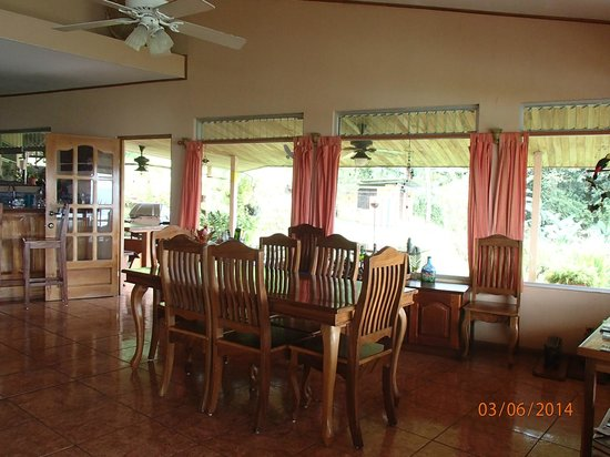 Tres Cabras Restaurante at Nepenthe : The dining area in the main house until the new building is complete