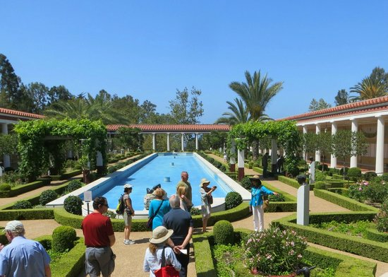 The Getty Villa: On Tour at the Villa, Note the pool is currently dry.