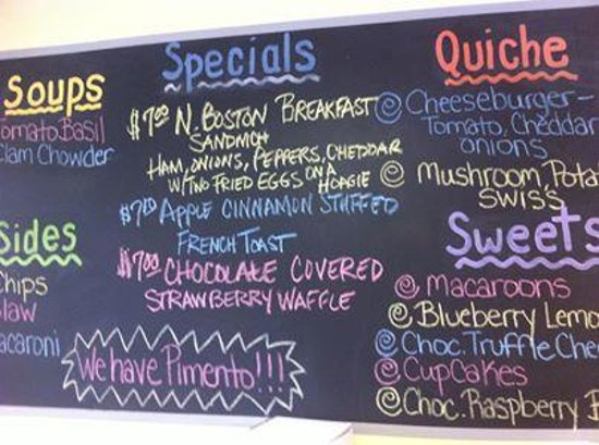 Sea Glass Cafe and Bakery: DAILY SPECIALS