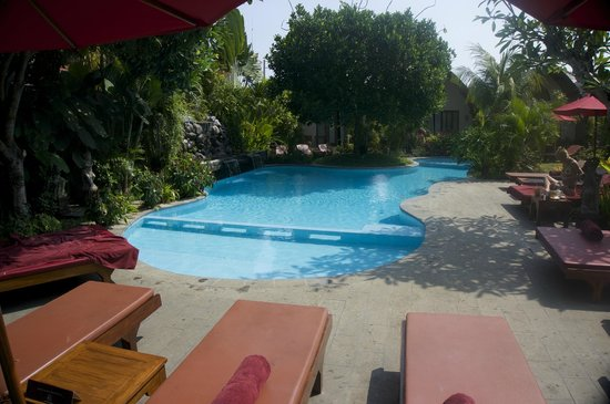 Klumpu Bali Resort: Pool by day from dining area