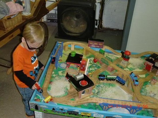 Maine Narrow Gauge Railroad Company and Museum: He just didn't want to leave!