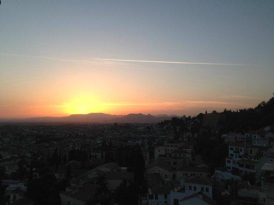 Hotel Mirador Arabeluj : View of the sunset