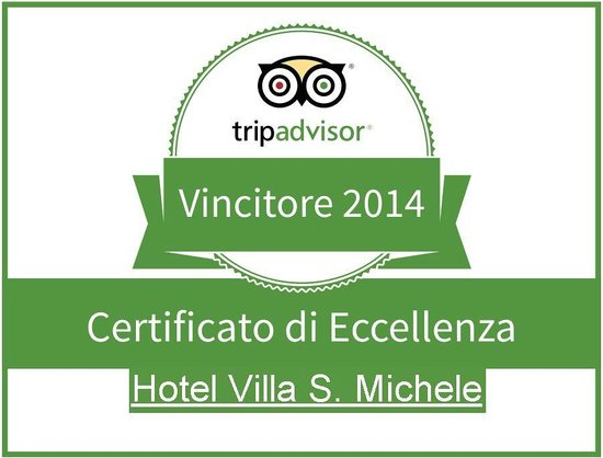 Hotel Villa San Michele: Certificato di eccellenza Tripadvisor