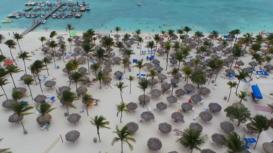 Marriott's Aruba Surf Club : Down view from our room!