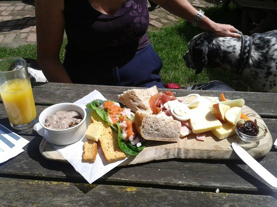 The Smuggler's Inn: This is the Terrine platter served on a wooden board..superb.