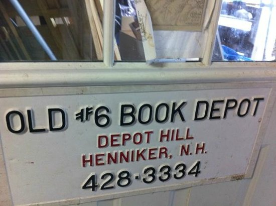 Old Number 6 Book Depot: Sign
